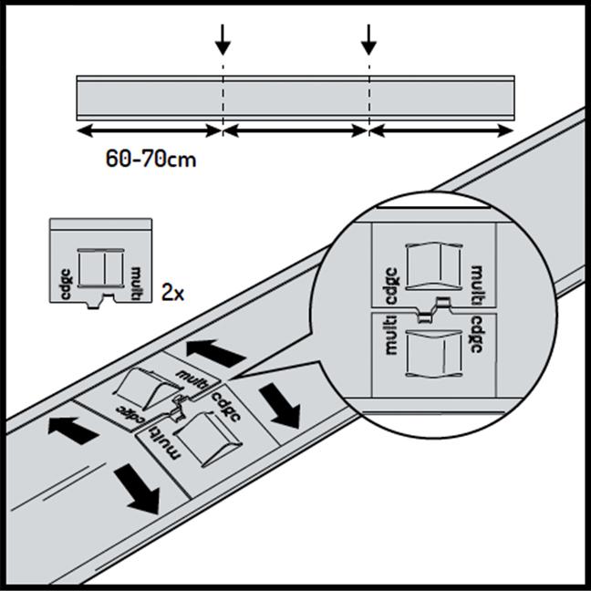 Multi-Edge ADVANCE Aufbau Schritt 2